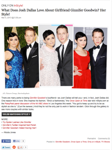 Couple Style - Josh Dallas/Ginnifer Goodwin