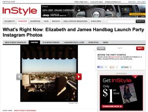 Elizabeth and James Handbag Launch Party Instagram Photos
