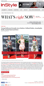 Young Hollywood Awards 2013 Fashion: Holland Roden, AnnaSophia Robb, Crystal Reed and More : InStyle.com What's Right Now
