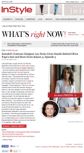 Scandal S3E3 Designer Interview
