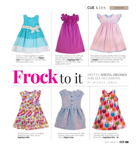 Frock to it - CUE Spring Fashion Issue by Gambit New Orleans' - May 2014