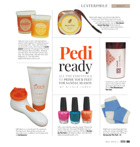 Pedi ready - CUE Spring Fashion Issue by Gambit New Orleans' - May 2014