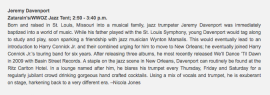 Where Y'At - Jazzfest Preview - Jeremy Davenport